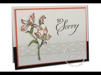 So Sorry Sympathy Card featuring Stampin Up
