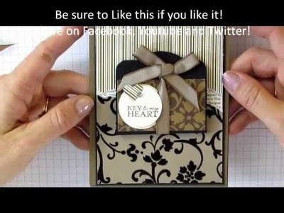 Stampin' Up Moving Card - Fancy Fold Accordian Tag Card