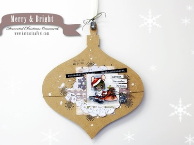 Stamping & More #45 - Decorate a wooden Christmas Ornament