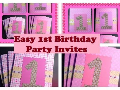 Super Easy 1st Birthday invitations   Video Tutoral