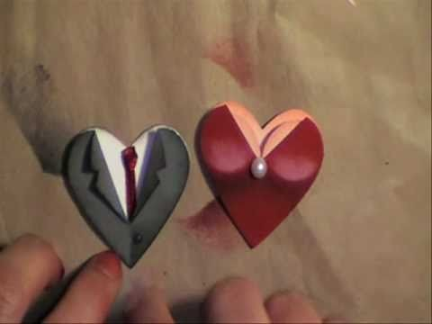 Valentine. wedding heart punch couple