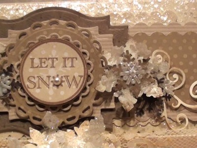 Vintage 'Iced Snowflake' Ornament.Embellishment Tutorial and Altered Box
