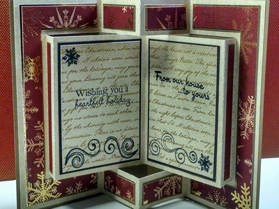 2014 #22 Winter Wishes Pop Up Book Christmas Card
