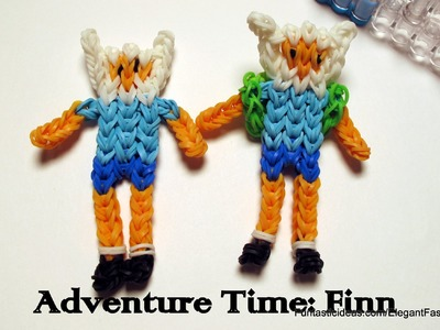 Adventure Time: Finn Action Figure.Character - How to Rainbow Loom Design
