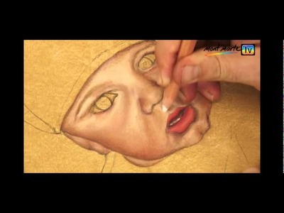 Art Lesson: How to draw realistic skin tones using Pastel