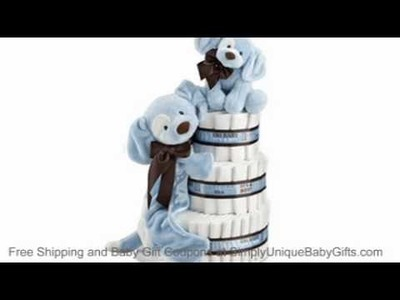 Baby Diaper Cake - Baby Shower Cakes- Boy Diaper Cake-Free Shipping