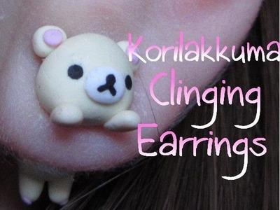 Clinging Rilakkuma.Korilakkuma Earrings: Polymer Clay Tutorial: