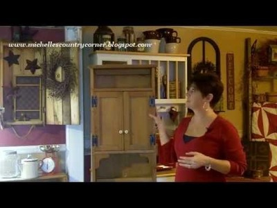 Country Cabinet Makeover - Country Decorating Ideas