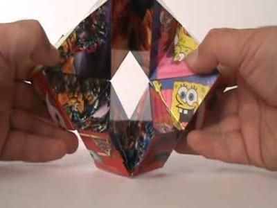 Cubic Kaleidocycle Disney Transformers Spiderman SpongeBob Caleidociclo Cubico Cubo Cube Paper Toy