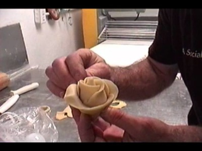 Demo of making a bread rose