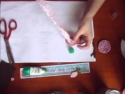 Fabric Flower made from Muslin Part 2