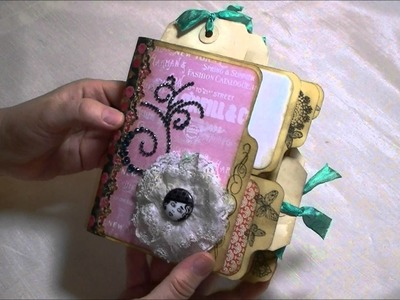 "File folder mini album using Prima's ""Anna Marie"" paper"
