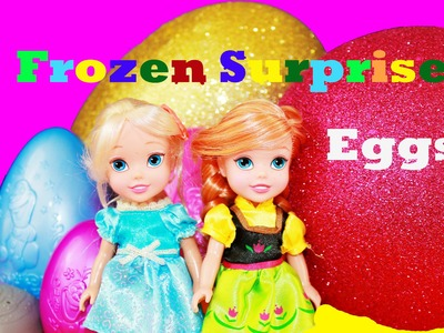 GIANT Elsa Surprise EGGS Let It Go FROZEN Disney videos Super Mega Huge Olaf
