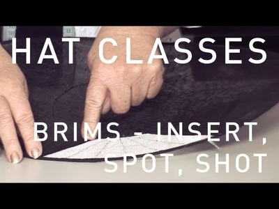 HAT CLASSES - MILLINERY HOW TO CREATIVE BRIMS 1 TRAILER