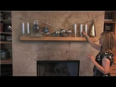 Home Decorating  : How to Decorate a Fireplace Mantle for Winter