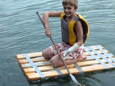 Home made raft made of botles
