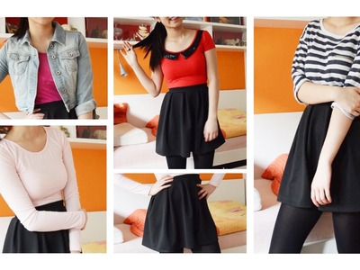 HOW I STYLE. Skater Skirts ♡ 1 Skirt 6 Outfits