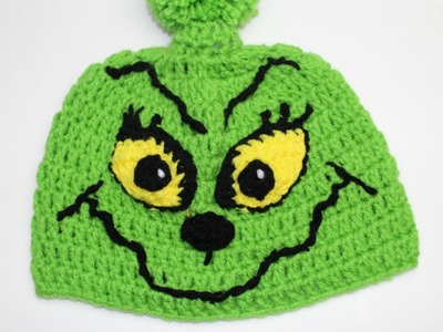 How to crochet Grinch Inspired Christmas hat -  Video One