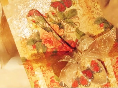 How to Decoupage Napkin on Canvas No wrinkles