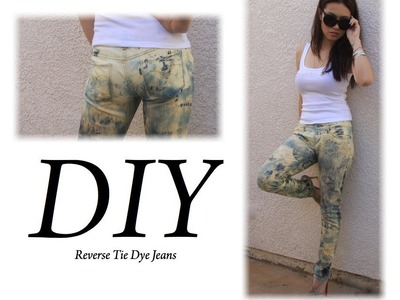 HOW To DIY Reverse Tie Dye for under $1  ~Summer 2012 Trend~