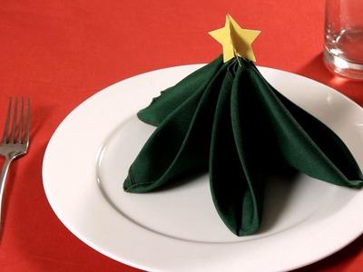 How to Fold a Napkin into a Christmas Tree | Napkin Folding