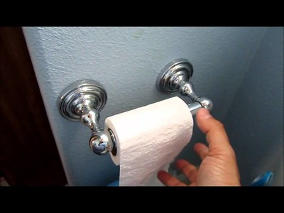 How to install toilet paper holder