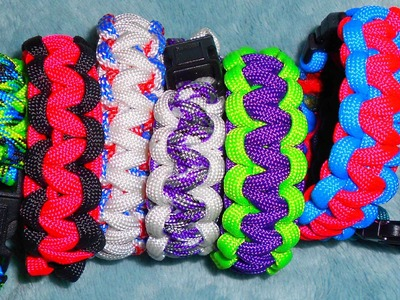 How To Make A 2 Color Paracord Bracelet