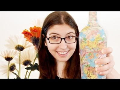 How to Make a Collaged Map Bottle