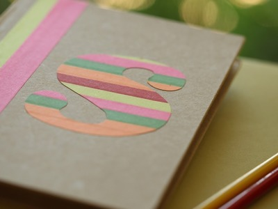 How to Make a Monogrammed Camp Journal || KIN PARENTS