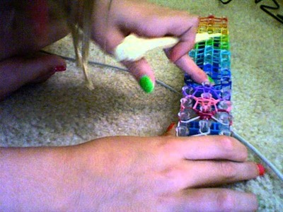 How to make a rainbow splash bracelet