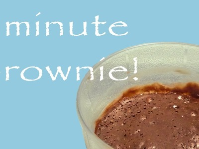 How to make an EGGLESS BROWNIE in a minute! (with only 4 ingredients)