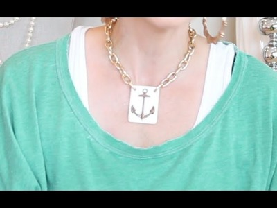 How To Make Kandee's Gold Sailor Anchor Necklace | Kandee Johnson