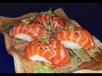 How To Make Salmon Nigiri Sushi - Sushi Chef Recipe