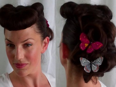How to Retro. Vintage Betty Grable pin up inspired hairstyle Bumper Bangs - Vintagious