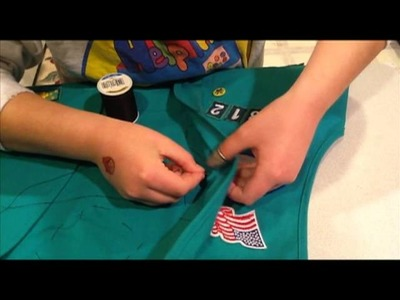 How to sew a patch onto a Girl Scout vest