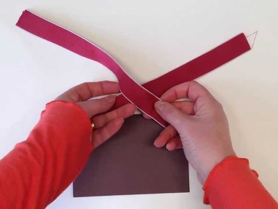 How to tie a flat knot using Stampin' Up! ribbon