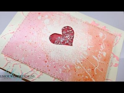 Love card - watercoloring with gelatos