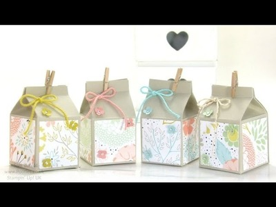 Mini Hand Cut Milk Cartons Tutorial