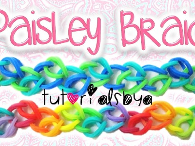 NEW Paisley Braid Rainbow Loom. Monster Tail Bracelet Tutorial | How To