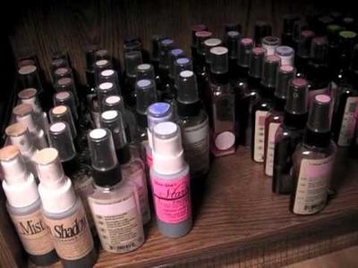 Organizing my Glimmer Sprays - 2011