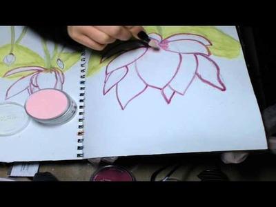 PanPastel Class - Drawing Lotus Flowers
