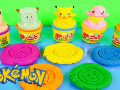 Play Doh Pokemon Stampers Playdough Pikachu Jigglypuff Squirtle Psyduck Clefairy Stamp