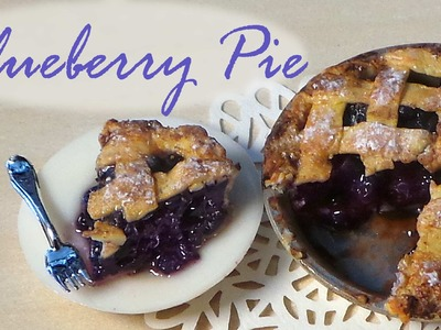 Polymer Clay Blueberry Pie Tutorial