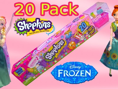 Queen Elsa Shopkins 20 Mega Pack Season 2 Disney Frozen Fever Princess Anna Dolls Toy Blind Bags