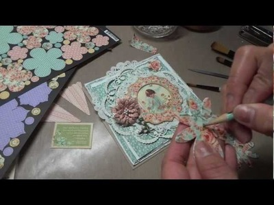 Secret Garden Shabby Chic card & Flower Tutorial