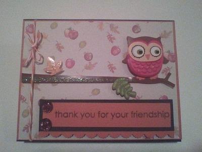 Sheena Joy - Friendship Owl Card (Video Tutorial)