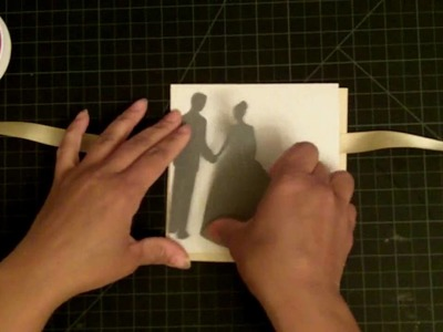 Simple Elegant Wedding Card from Wedding Solution Cricut Cartridge