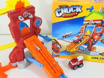 Tonka Chuck & Friends Fire Funhouse with Boomer the Fire Truck! Toy Unboxing & Review!