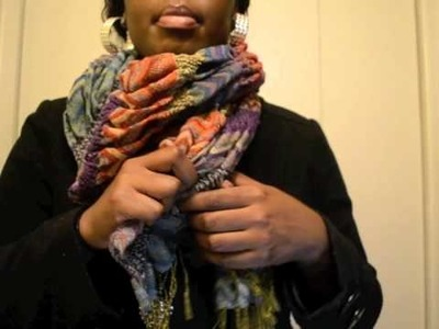 Tutorial: How to wear a chunky scarf