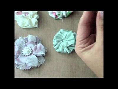 Tutorial - Shabby Chic Flower Centers Using Silver Buckles